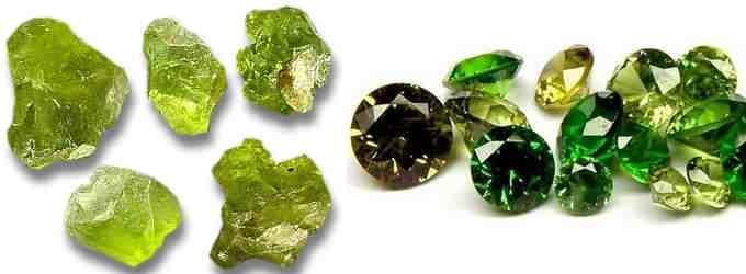 Амулеты из камня хризолит