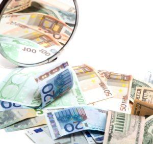 Зеркало с деньгами