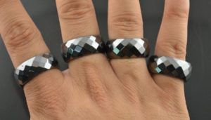 кольцо гематит