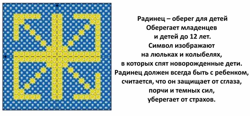 Схема вышивки оберега Радинец