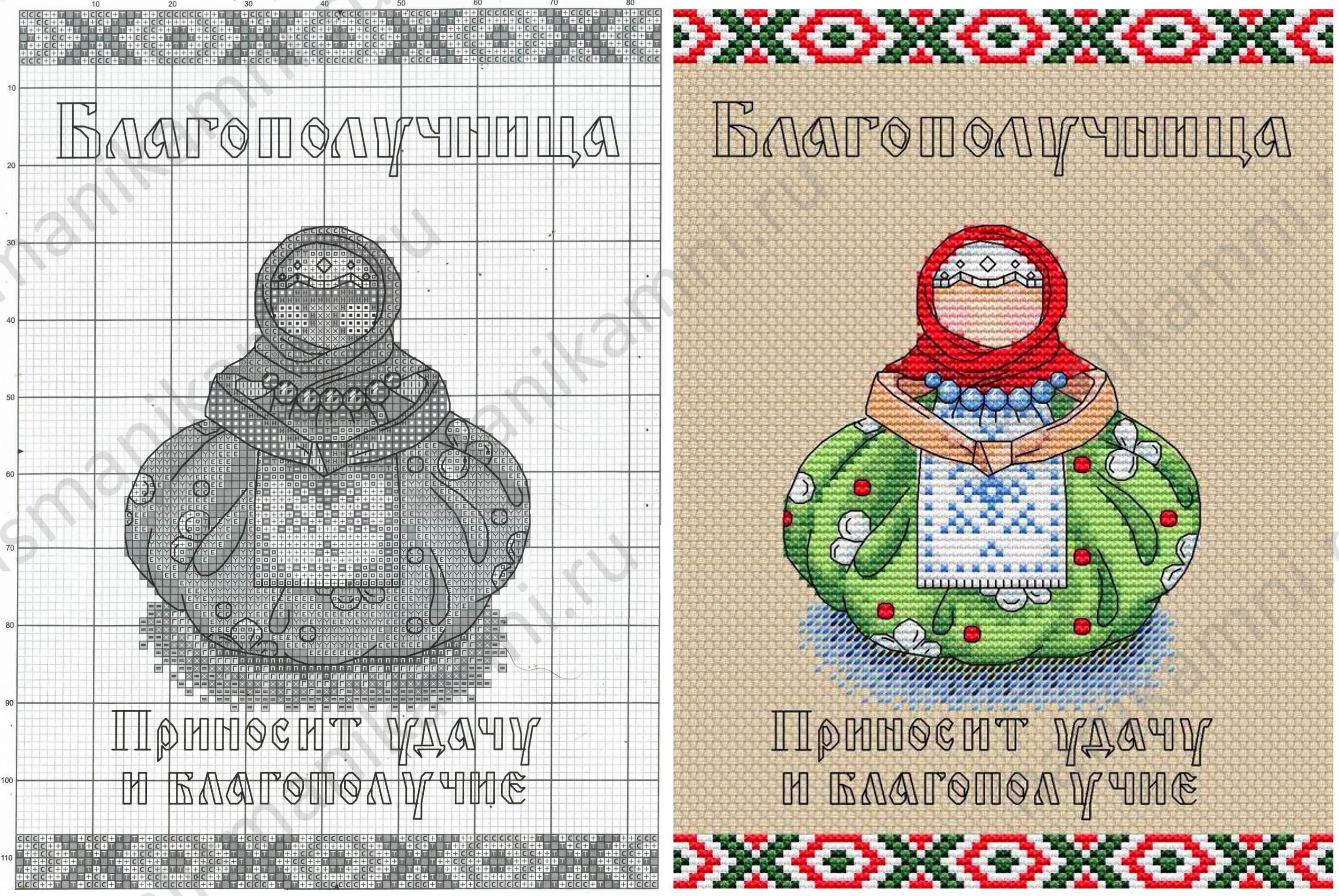 Схема вышивки Куклы Благополучница