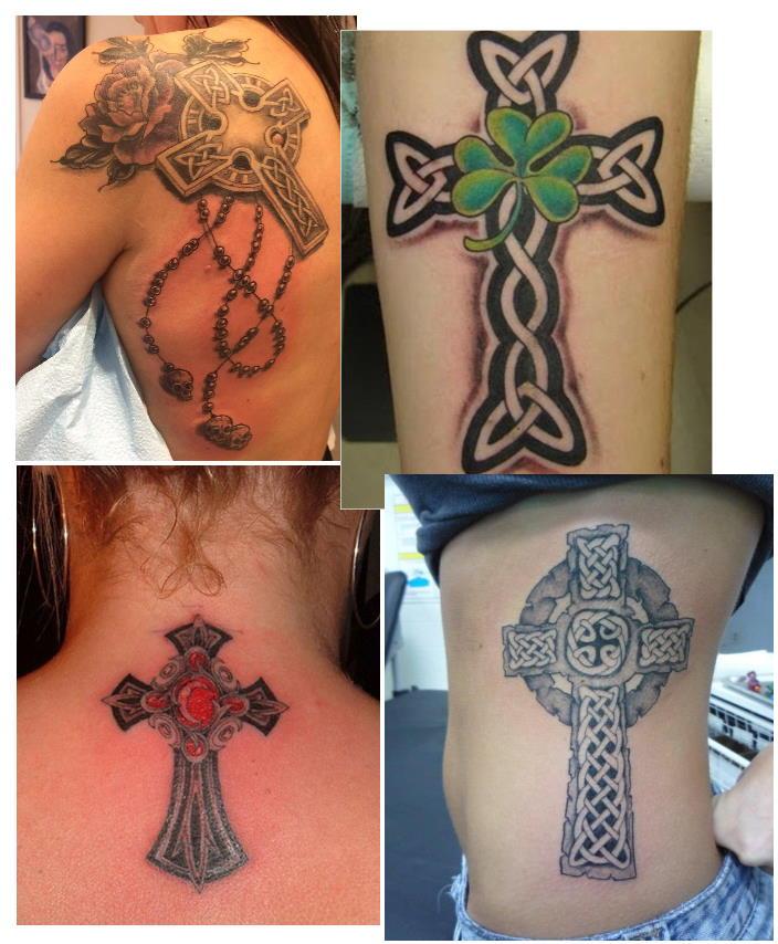Кельтский крест тату женское