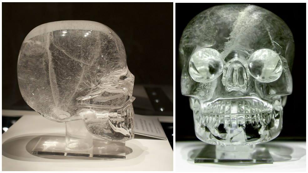Хрустальный череп из цельного куска дымчатого горного хрусталя (кварца), Британский музей, Лондон