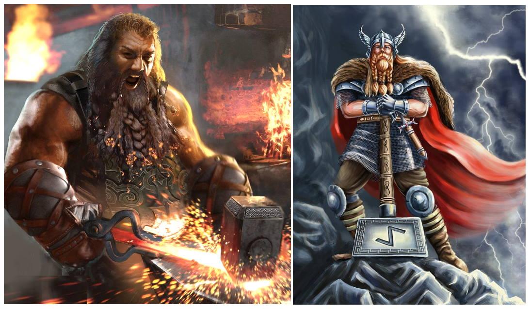 Согласно легенде из скандинавской мифологии, Молот Тора - выковали кузнецы-гномы для Тора - сына бога Одина