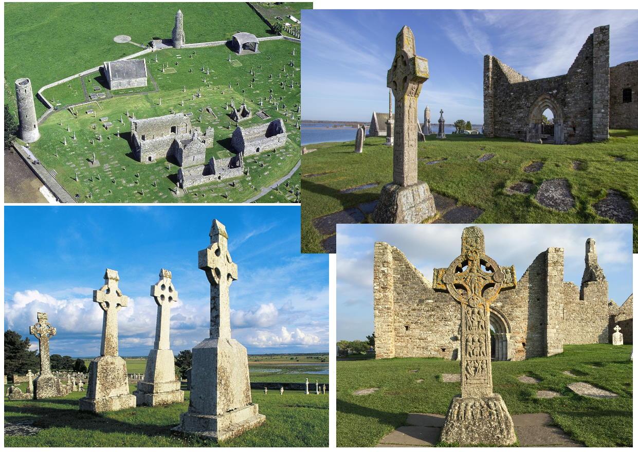 кельтские кресты в монастыре