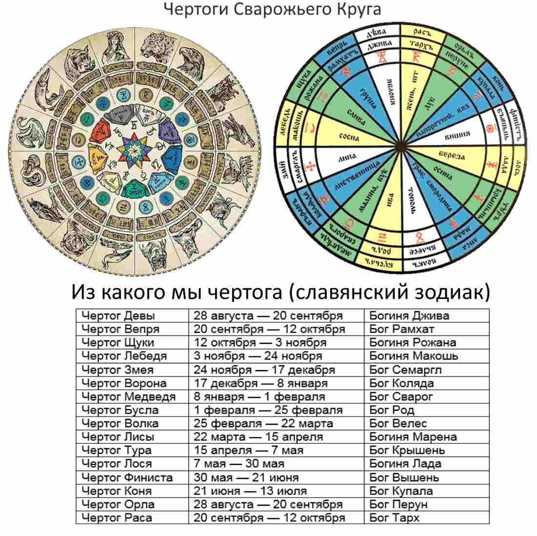 Чертоги сварожьего круга, из какого мы чертога (славянский зодиак)