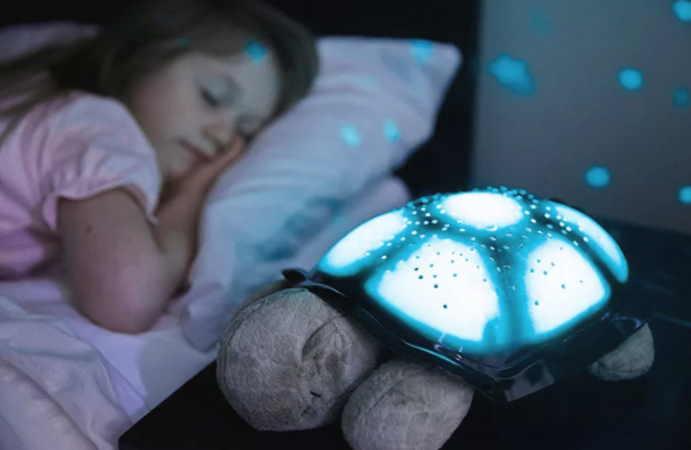 В детской комнате функцию талисмана может выполнять ночник в форме черепашки