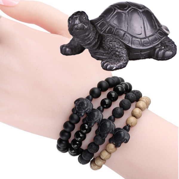 Согласно фен-шуй, черная каменная черепаха принесет удачу своему хозяину. Браслет с черной черепахой обеспечит быстрый карьерный рост и стабильность доходов