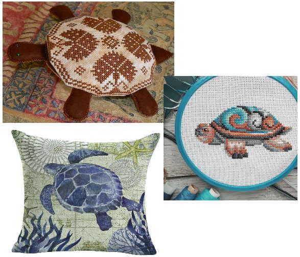 Вышивка, предметы декора или текстиль с изображением черепахи будет служить оберегом семьи, усиливая положительную энергетику в доме
