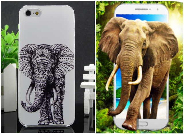 Талисман на телефон Слон - символ богатства и силы, терпения и мудрости