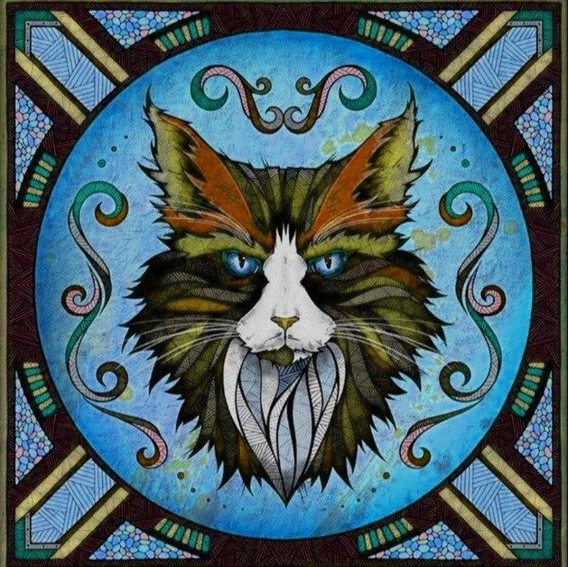 Изображения магического кота или кошки были священными, а амулет кот наделял носителя сверхъестественными способностями